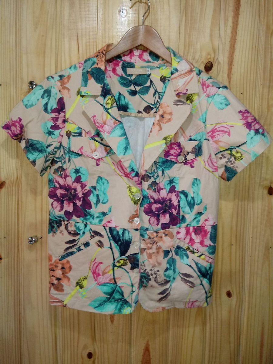 casaco floral pregas - casaquinhos beluga