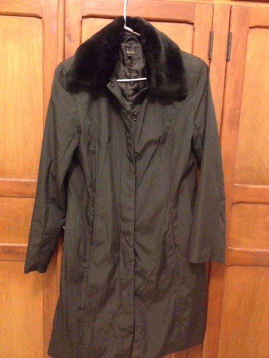 casaco longo, meia estação, microfibra preto - casaquinhos request (renner) 2270582456