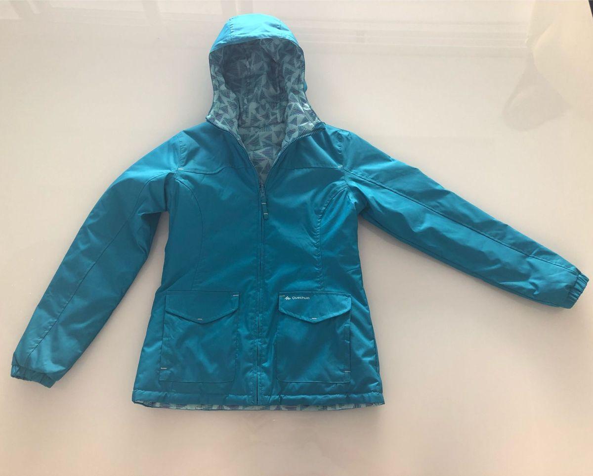 ... ad5478736e0 casaco marca quechua corta vento impermeável (a prova  dágua) dupla face para frio  22487774b64 Jaqueta ... 40809432fd6