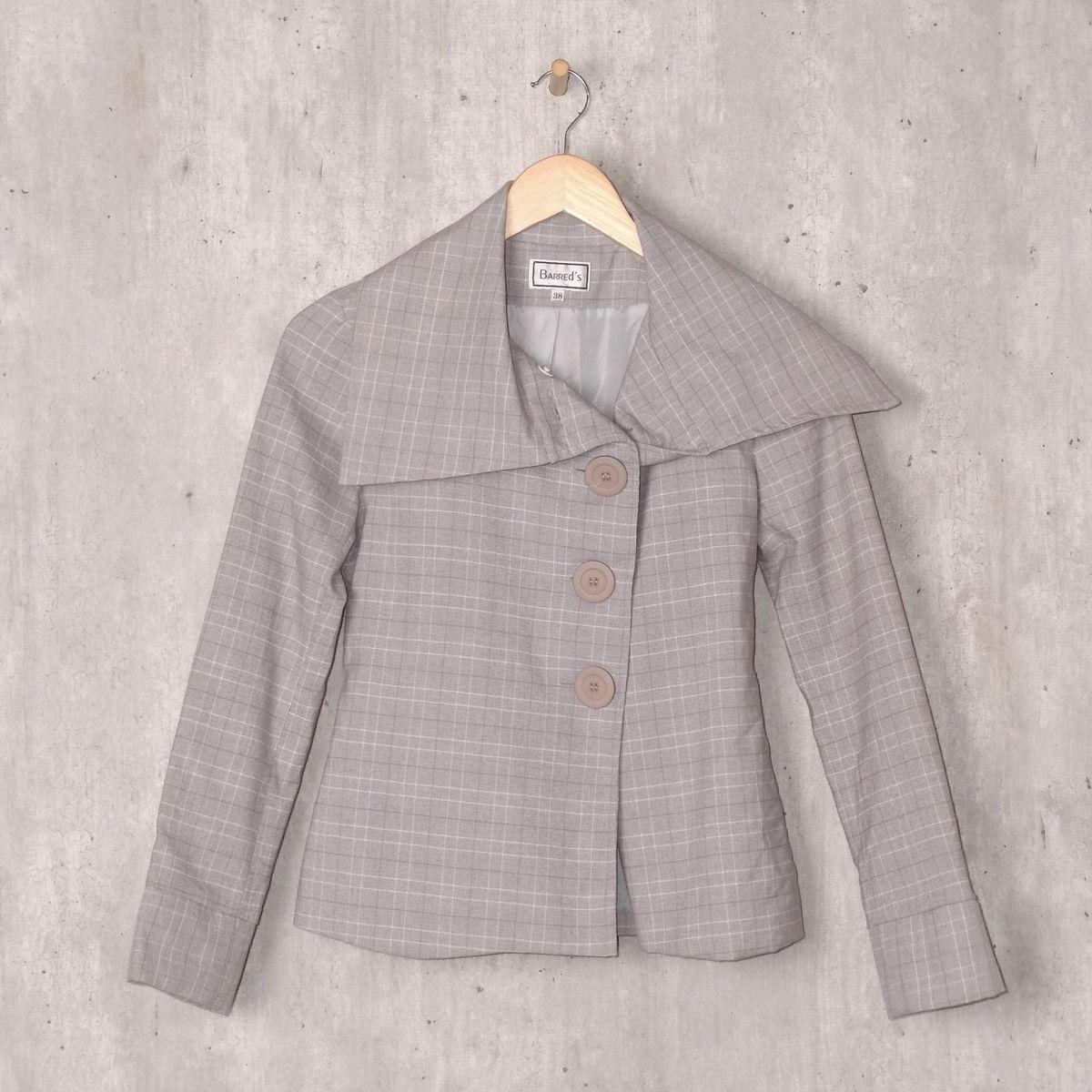 casaquinho cinza xadrez - casaquinhos barreds