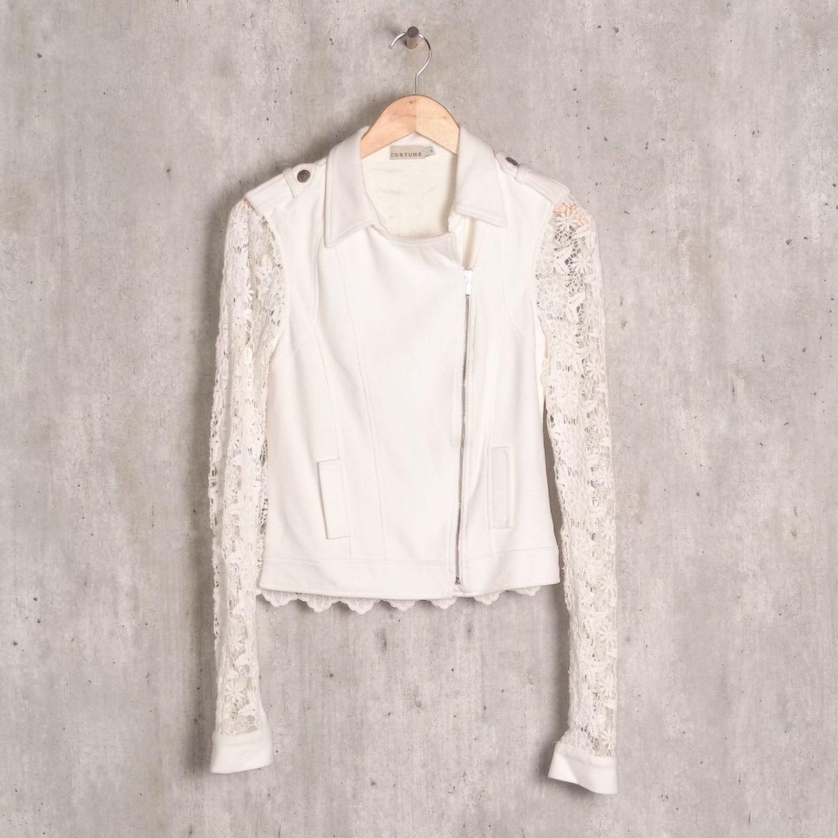 casaquinho off white costume - casaquinhos costume