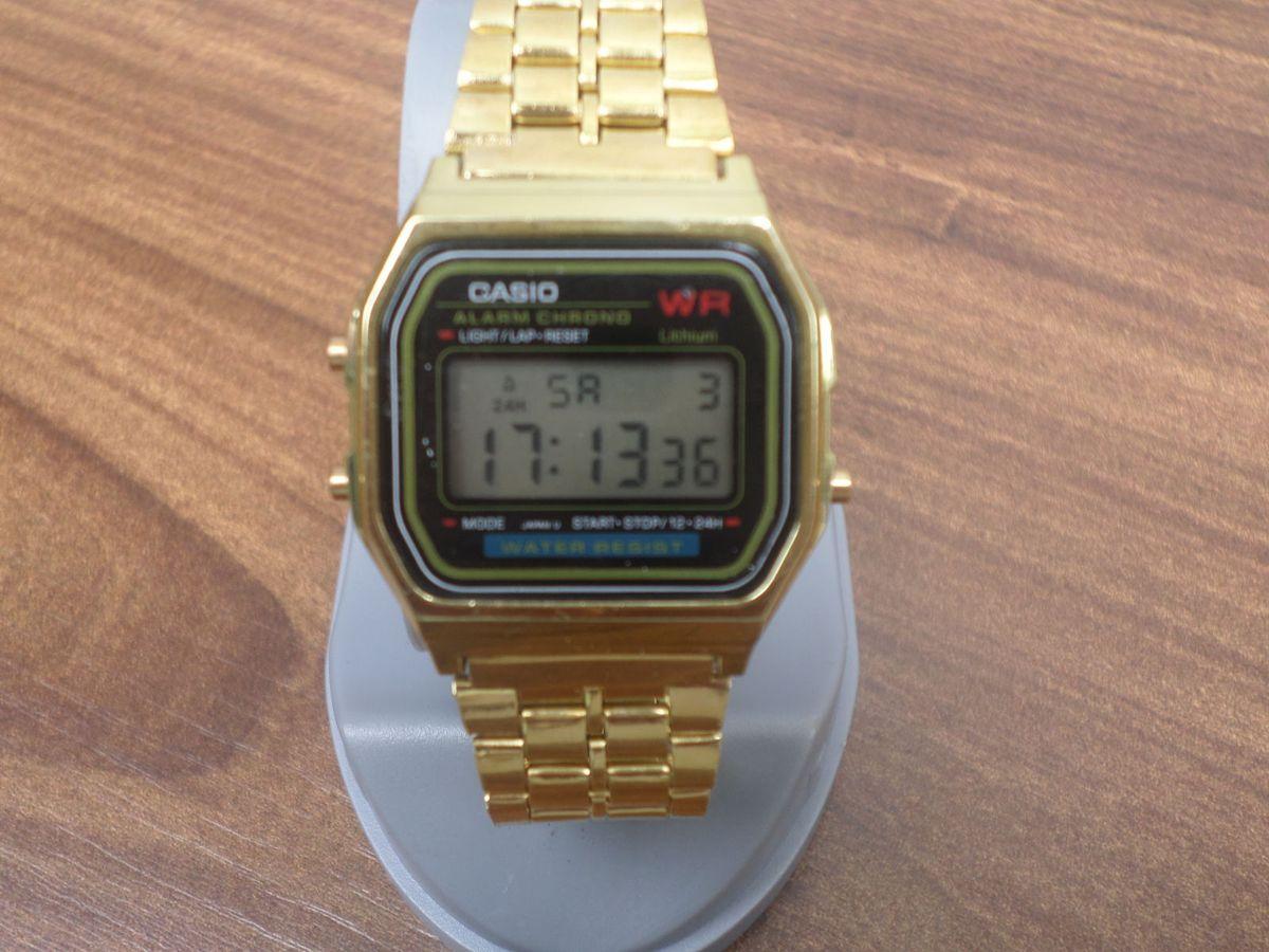 2d2f8ae7ec7 casio wr dourado retrô - relógios casio.  Czm6ly9wag90b3muzw5qb2vplmnvbs5ici9wcm9kdwn0cy82mzixmtyvztuwnguyoge0odjmyjninjnhnmfhmjc4ntq0otvjmjiuanbn  ...
