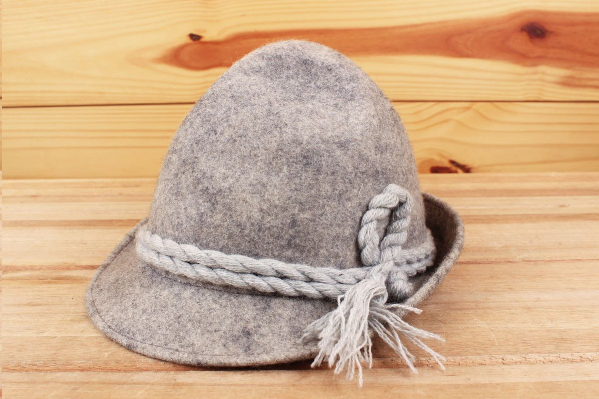 2eb5b27607c8d chapéu comprado em brechó em haight ashbury san francisco feltro cinza -  chapeu brechó haight ashbury