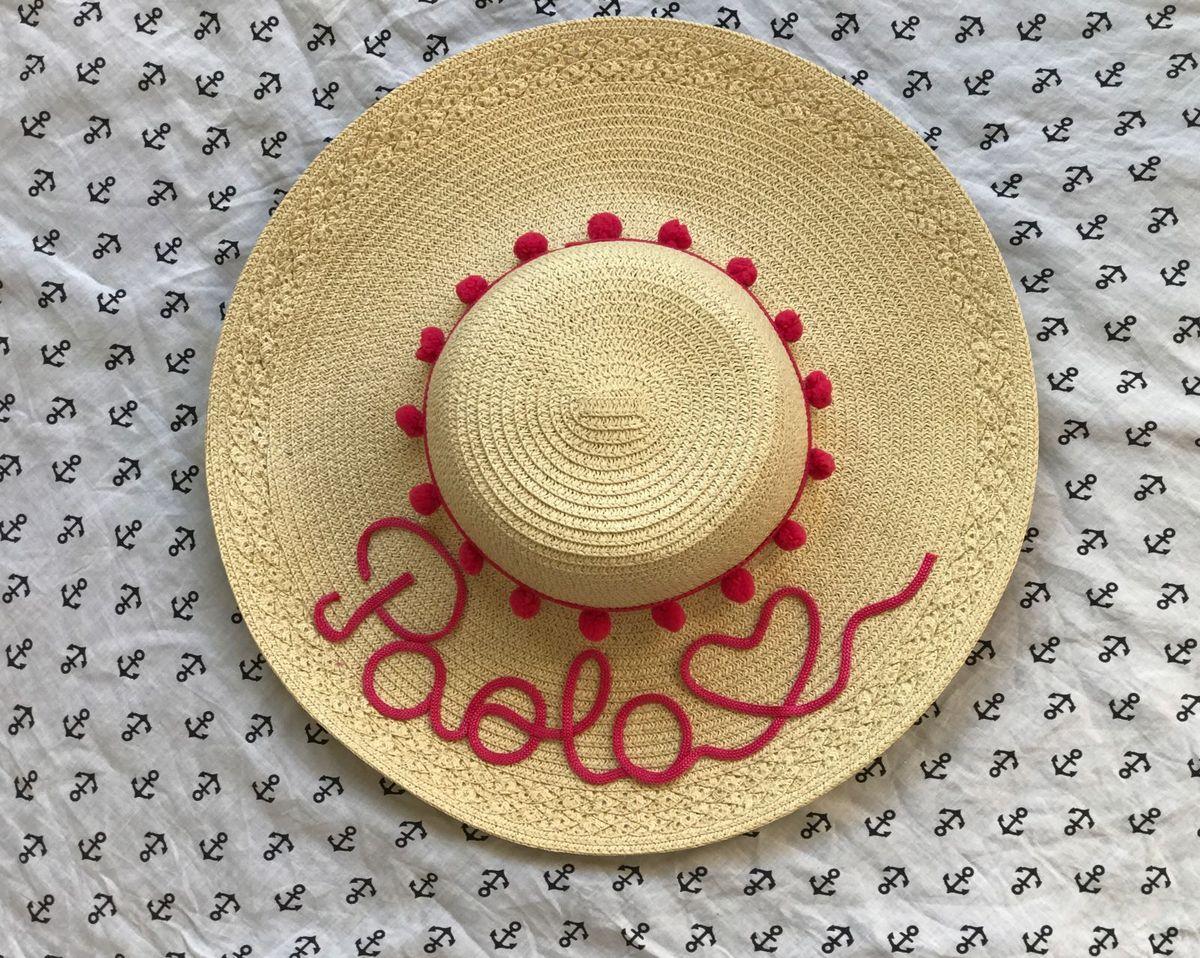 chapéu de palha personalizado - praia beach 431e71abc34