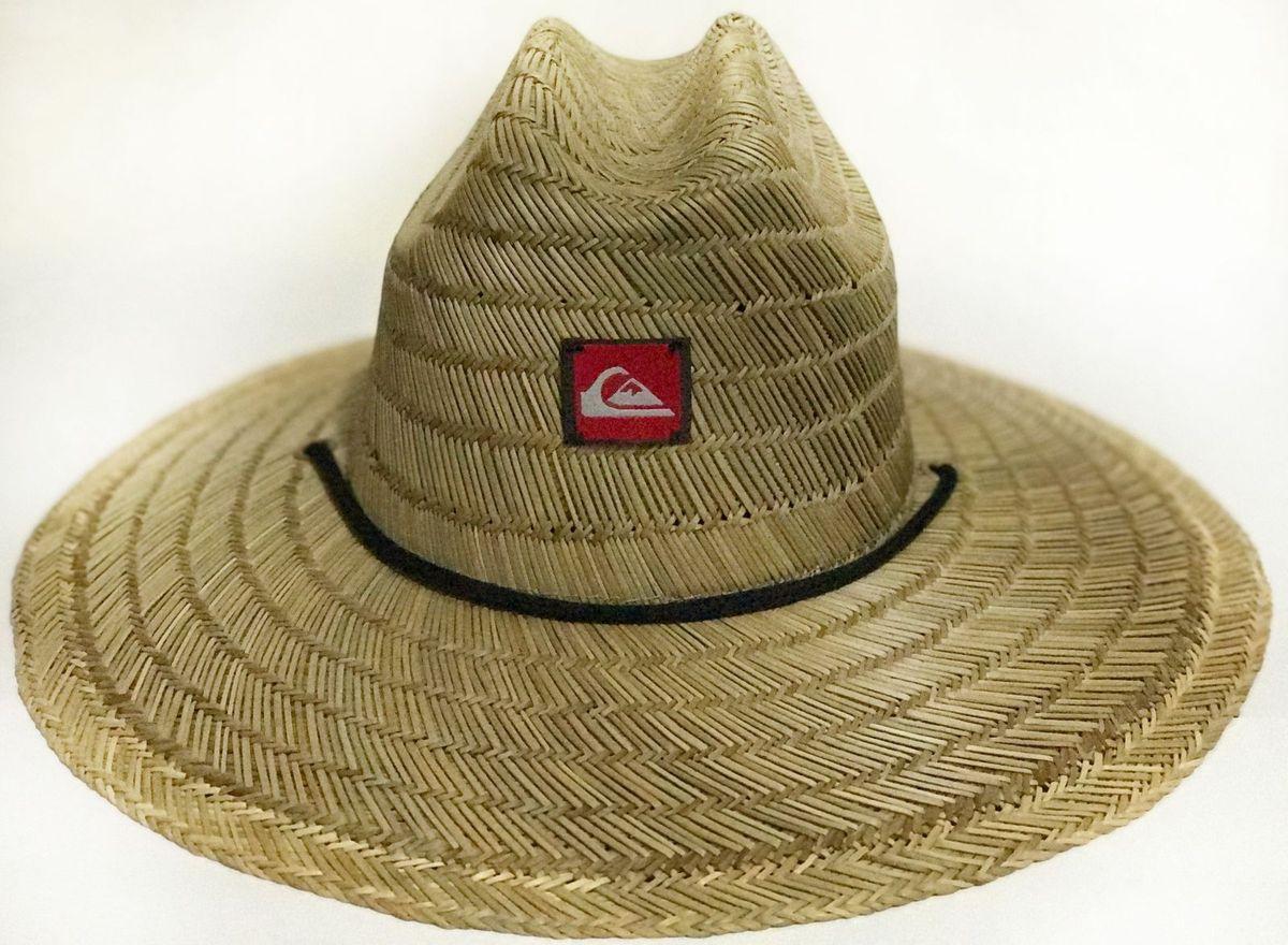chapeu de palha quicksilver pierside - chapeu quiksilver e51b22f0969