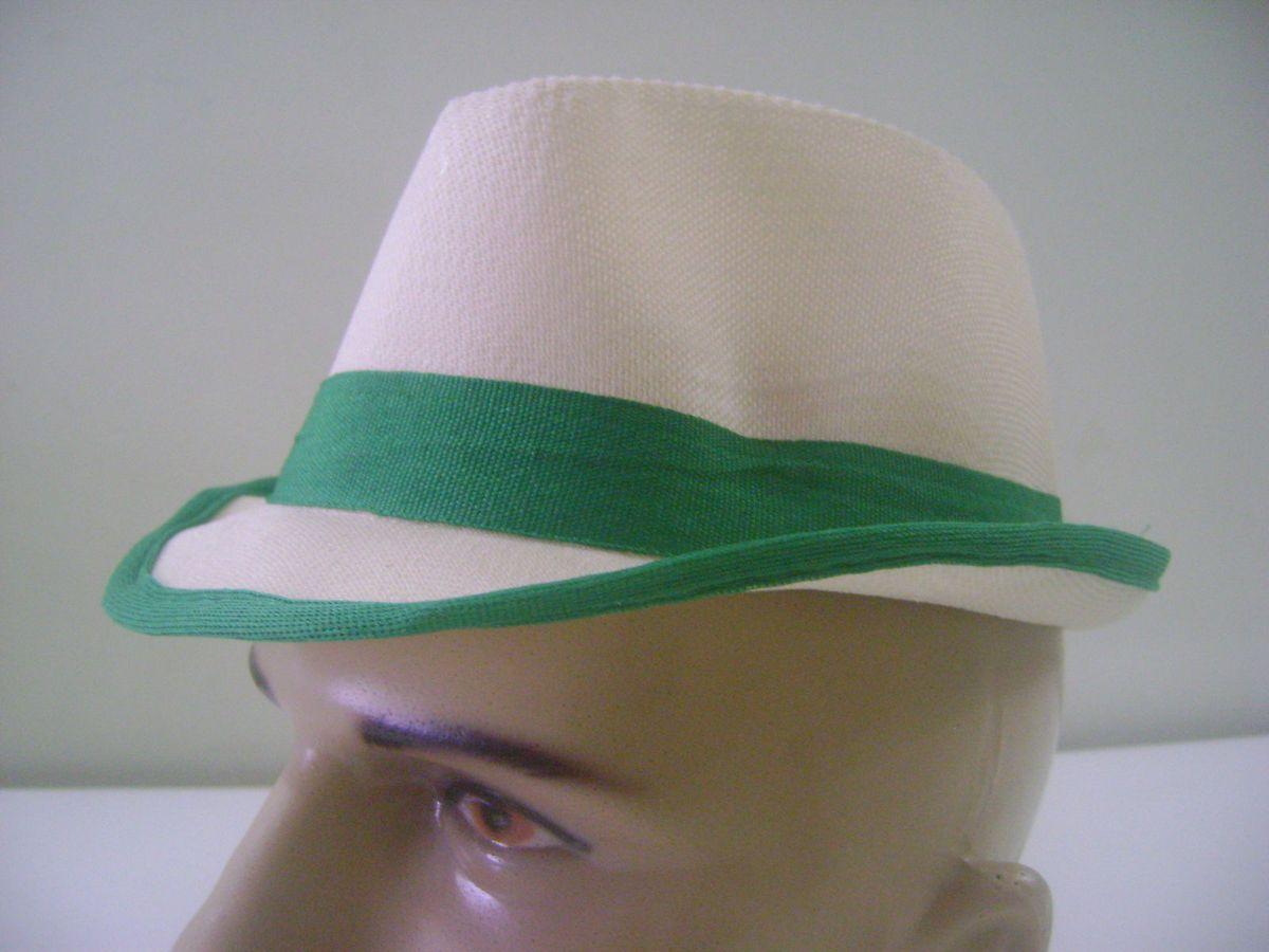 17a9060a0d1d7 chapéu infantil fedora estilo panamá - verde - menino importado