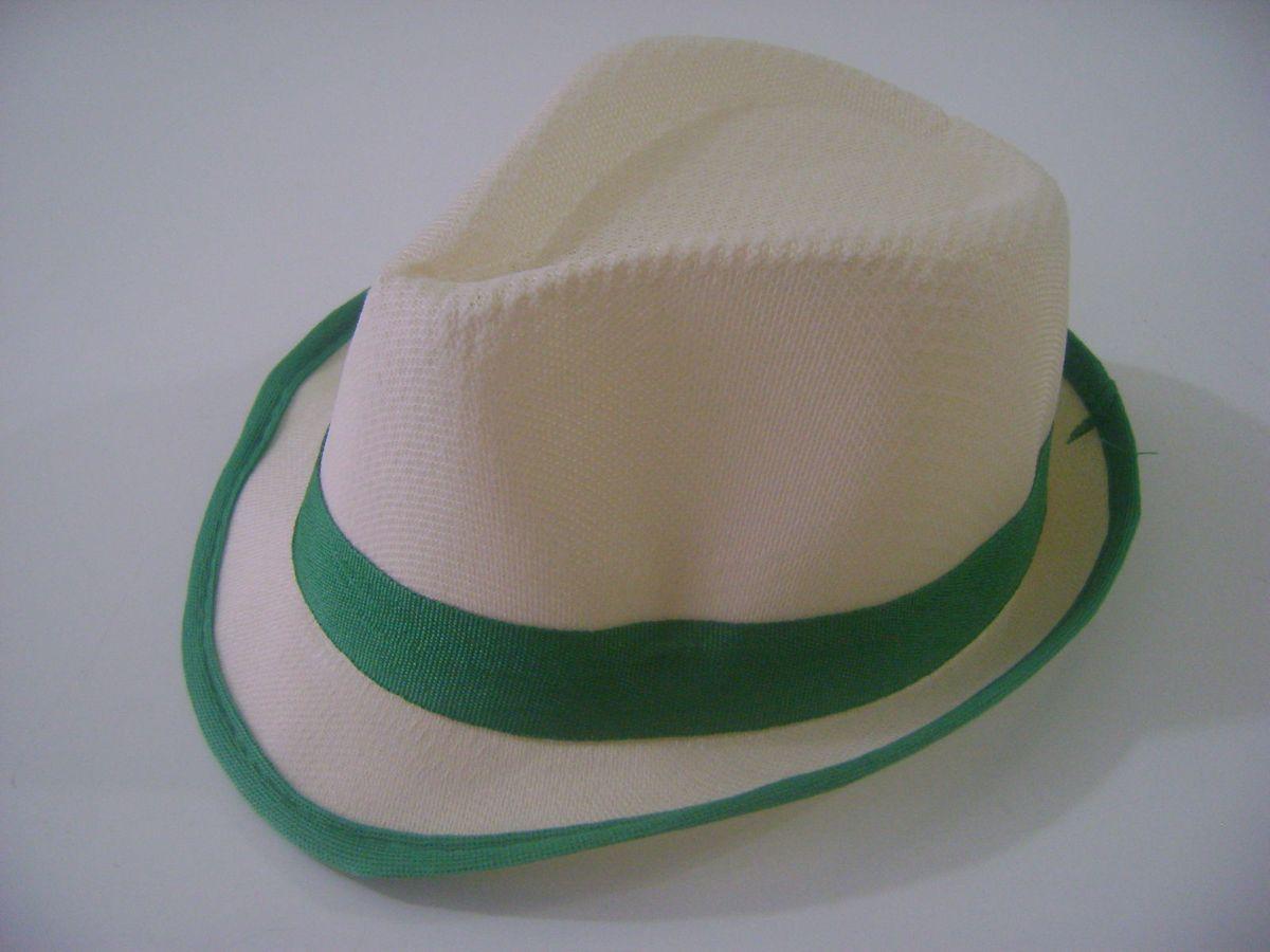 Chapéu Infantil Fedora Estilo Panamá - Verde  45806700c4c