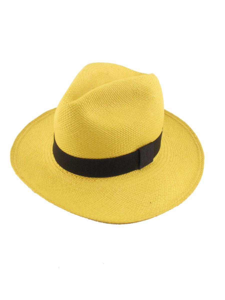 8ac35dcb9ec23 chapéu panamá colorido legítimo amarelo - chapeu chapéu panamá