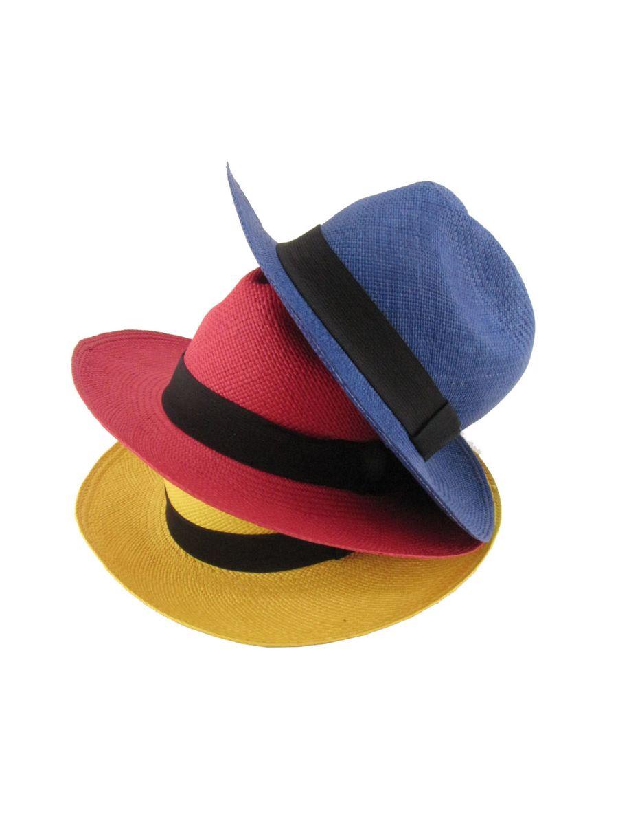 cce0cc320eb6b chapéu panamá legítimo colorido 100% paja toquilla - chapeu chapéu panamá