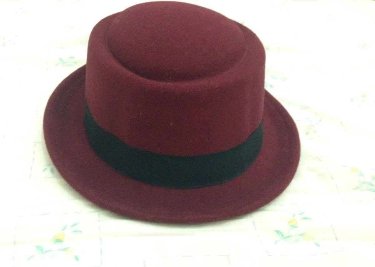 chapéu pork pie feltro vinho - chapeu chapéu   estilo edb14cf240b
