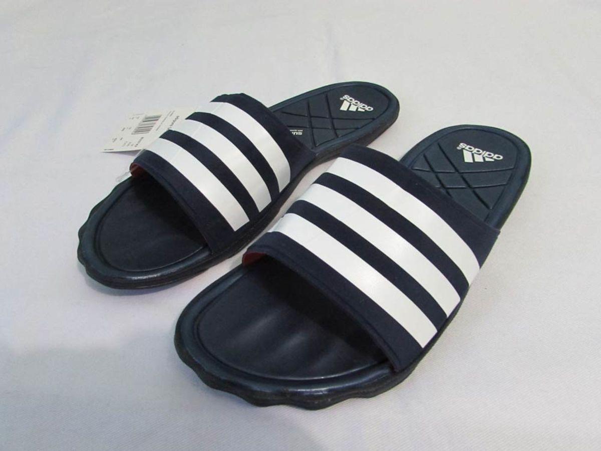 a660a52859a chinelo adidas adipure slim slide azul branco 42 - 43 duramo - sandálias  adidas