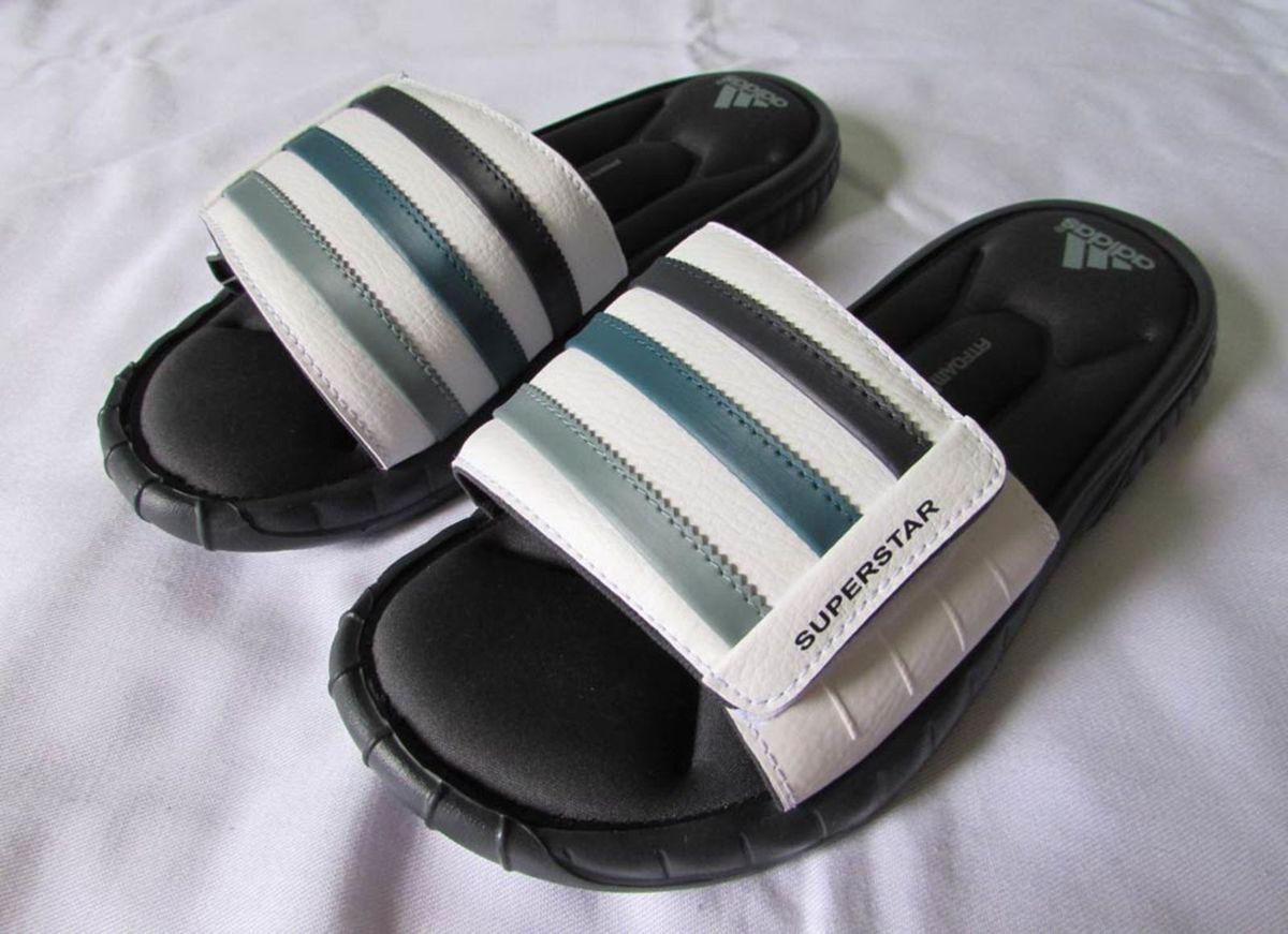 761f77140931 chinelo adidas superstar 3g slide cinza branco 38 - 39 duramo - sandálias  adidas
