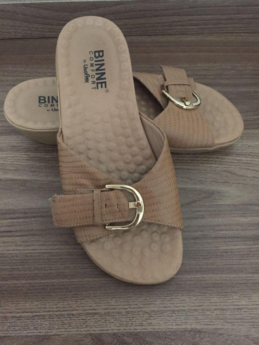 823cd859e Chinelo Binne Confort | Rasteira Feminina Binne Confort Usaflex ...