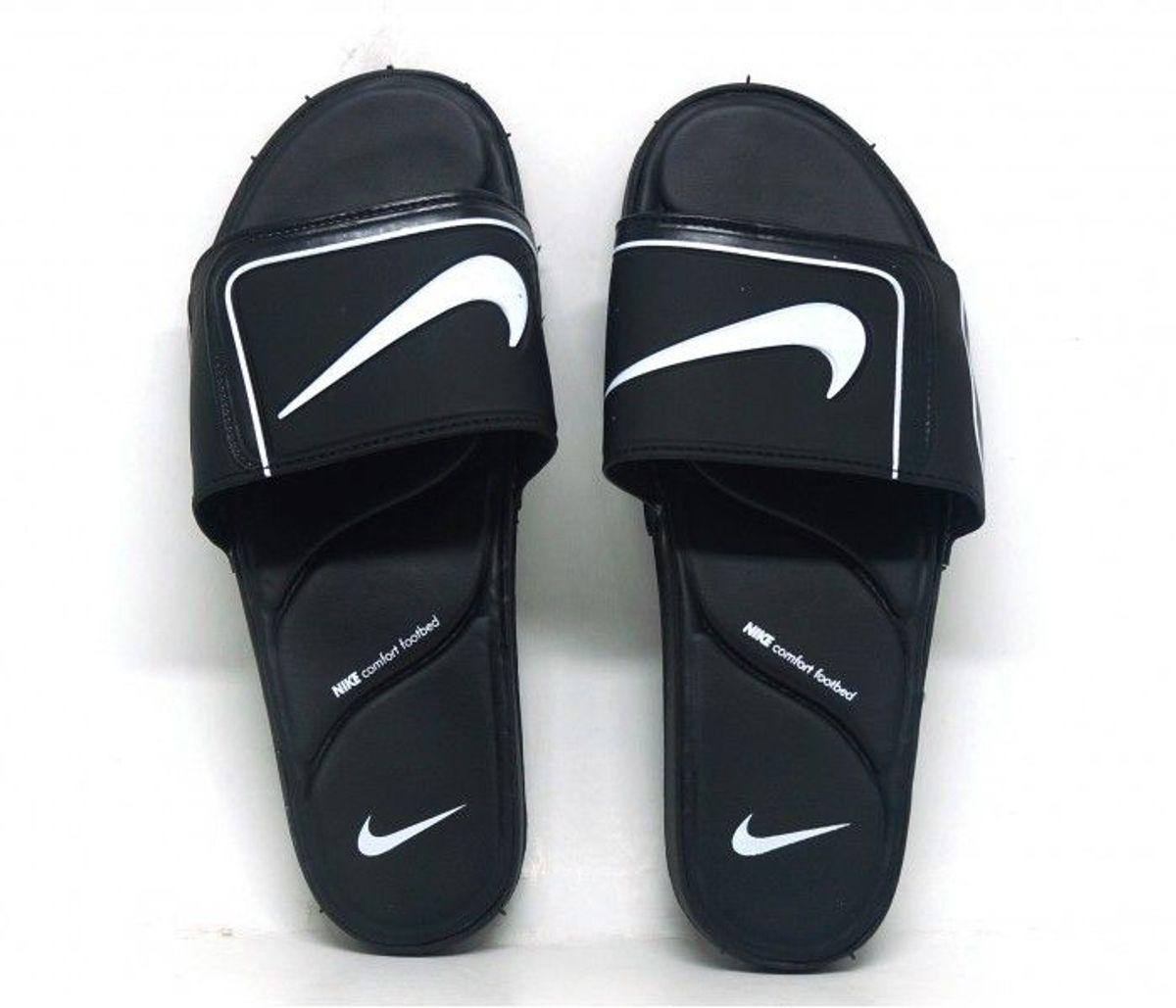 fa6e9e4254 chinelo nike kawa slide preto e branco - consultar tamanhos - sandálias nike