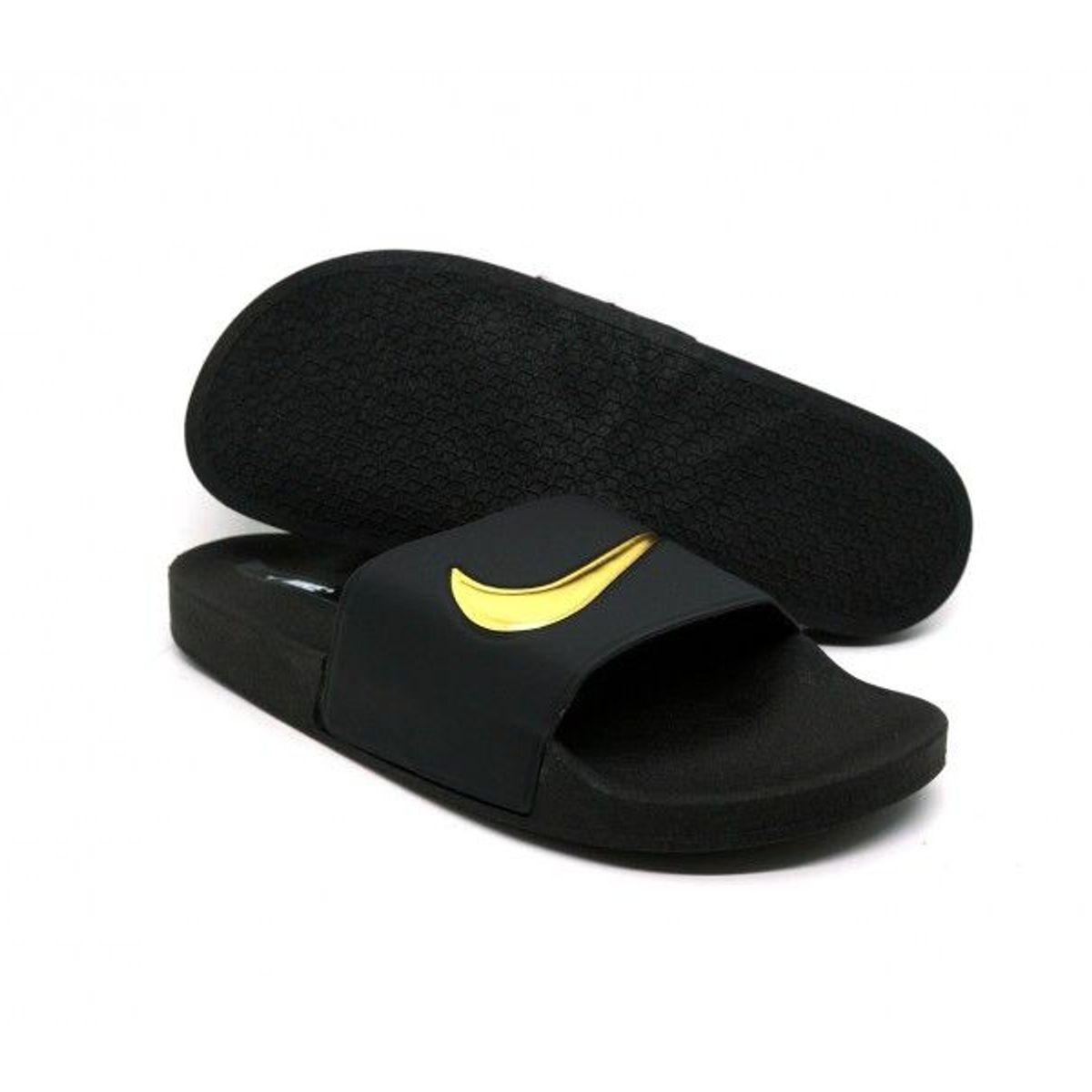 0d69b8e03c Chinelo Nike Slide Tira Larga Preto e Dourado | Sandália Masculina Nike  Nunca Usado 34466653 | enjoei