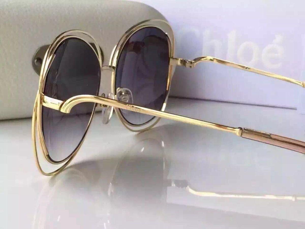 Chloé Carlina Metal Dourado   Óculos Feminino Chloé Nunca Usado 15346736    enjoei e5c06b26ed