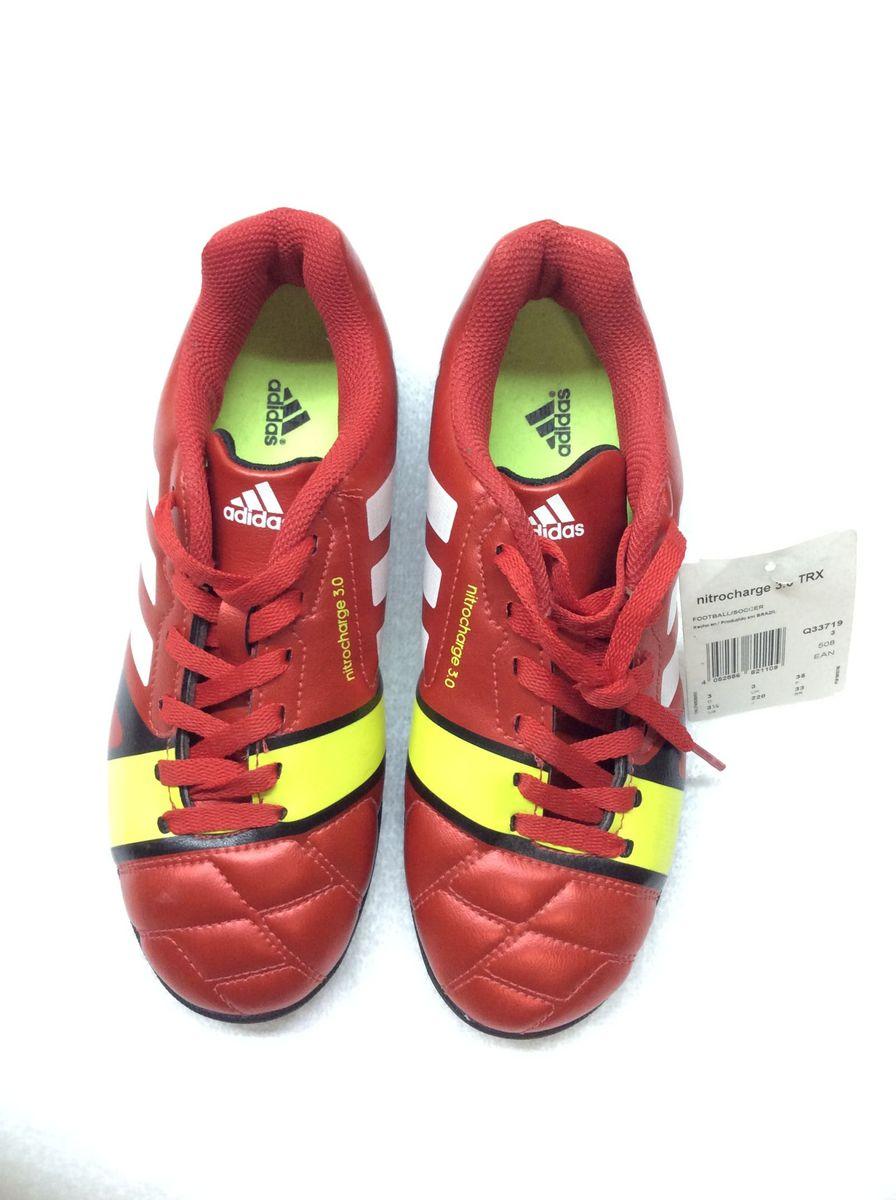new! chuteira adidas society nitrocharge 3.0 trx - menino adidas 1841a5407ae32