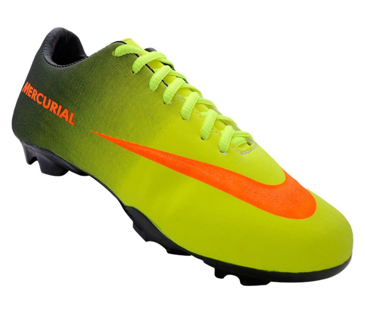 c6887ebb8a3e5 Chuteira Nike Mercurial Preta e Verde Limão | Roupa Esportiva ...
