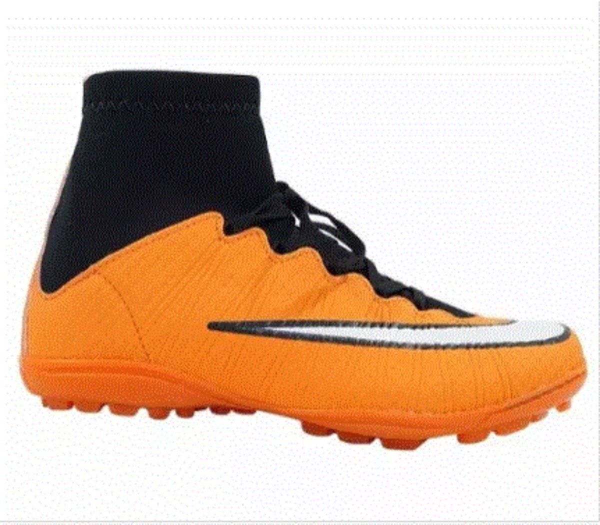 e25baaf33d1fb chuteira society nike mercurial syperfly cn cano alto laranja - esportes  nike
