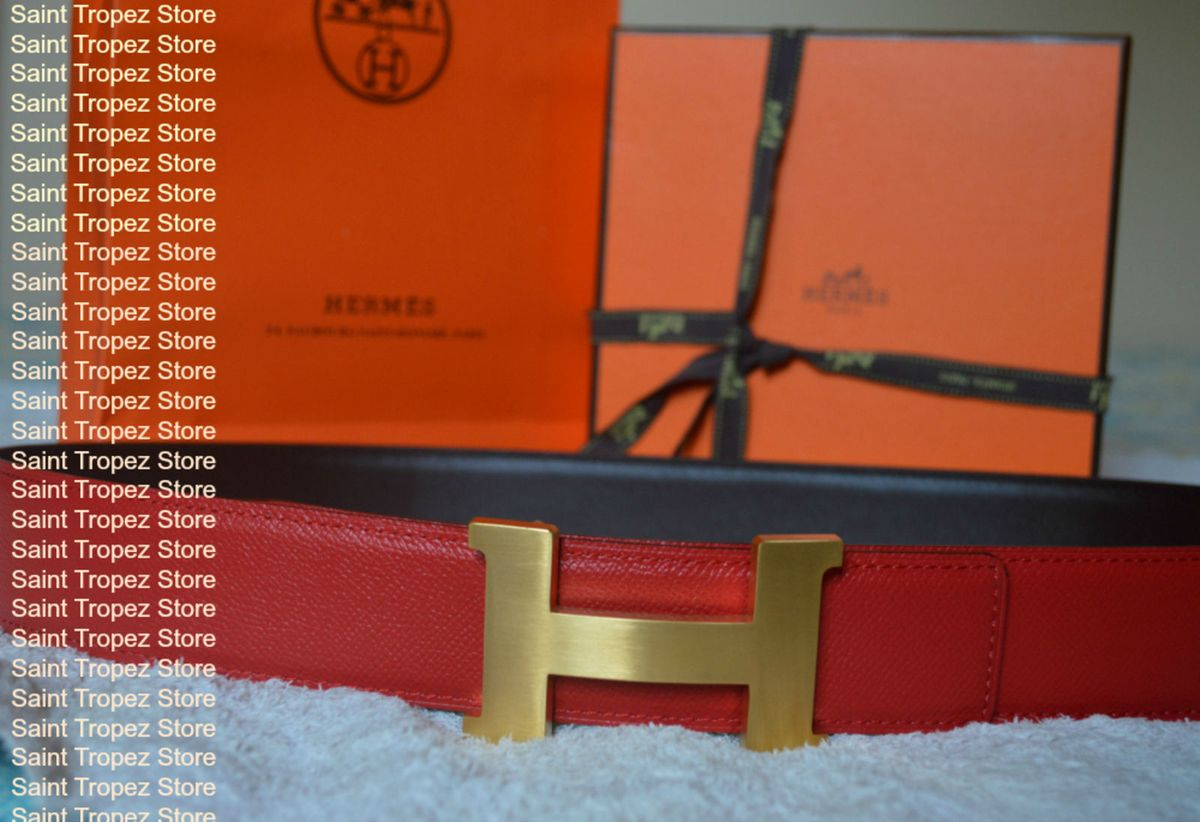7196118d624 cinto e fivela hermes 42mm constance 2 ouro novo e autêntico! - outros  hermes