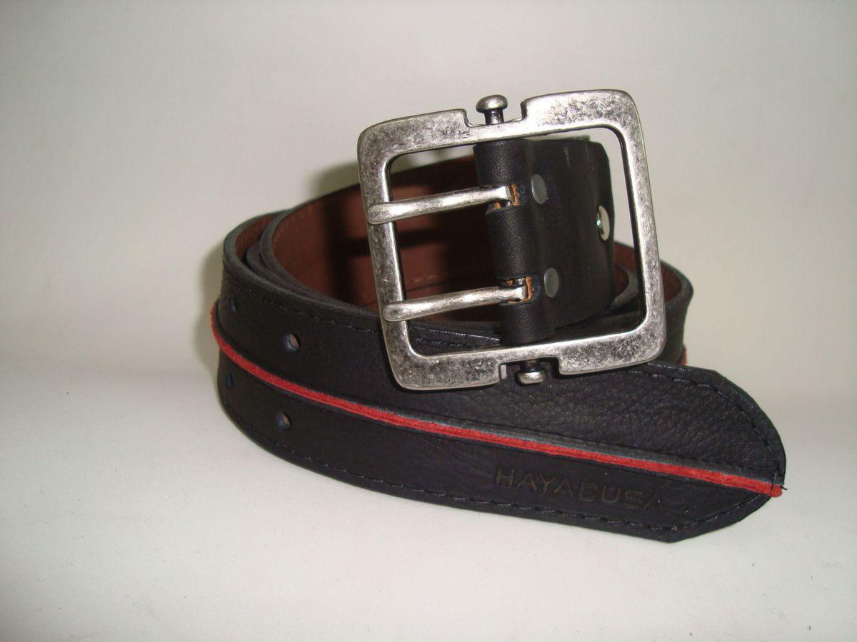 fa1a86bdb9 cinto em couro 4,5 cm fivela dupla quadrada preto detalhe vermelho - outros  sem