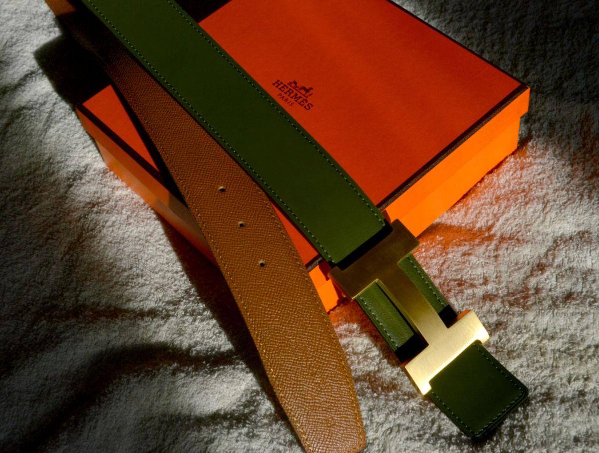 edebe1a9ab0 Cinto Hermes Reversível + fivela ouro 42mm