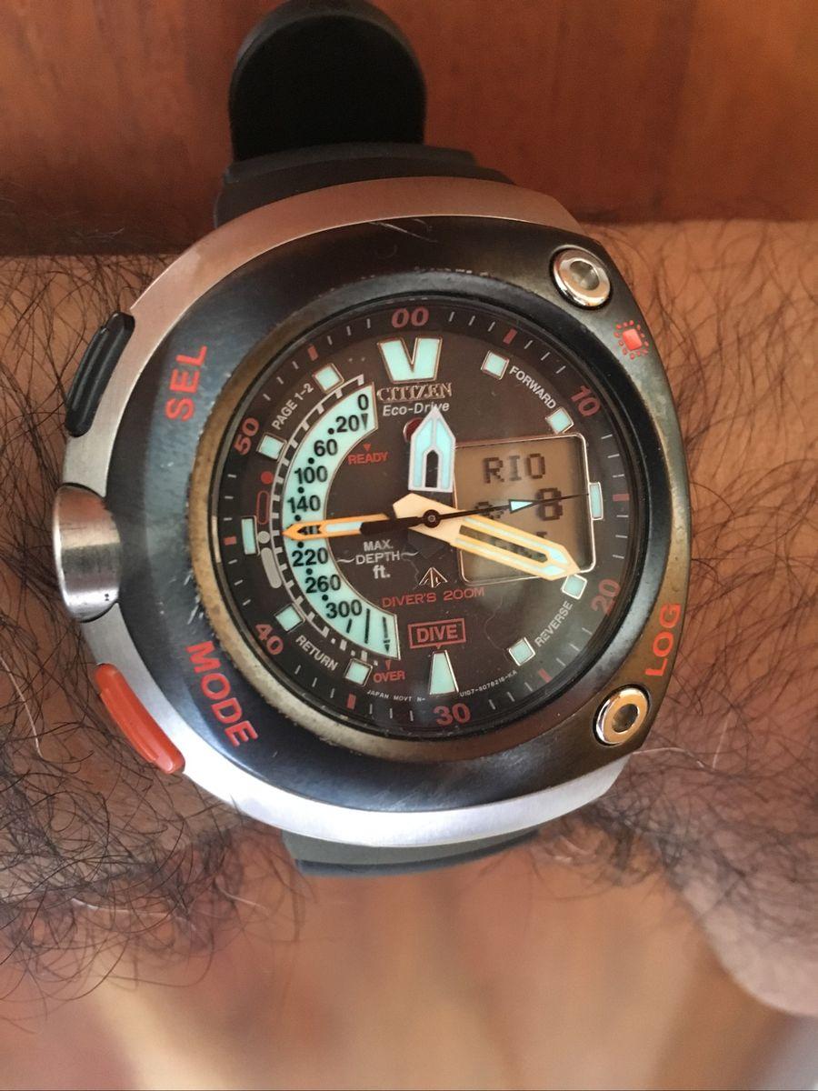 9ed92325d5 citizen aqualand eco drive - meia lua - relógios citizen