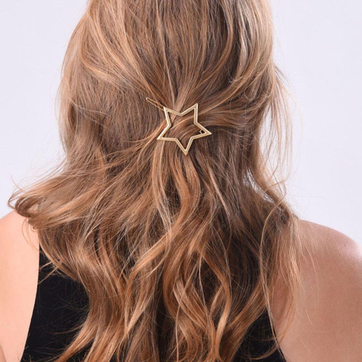 clip presilha grampo tic tac estrela - cabelos sem marca