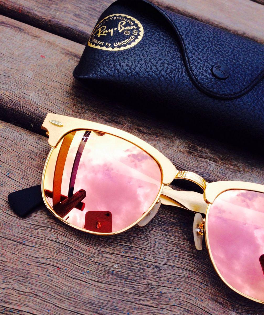2a8d77df906f2 clubmaster alumínio rosa - óculos ray ban.  Czm6ly9wag90b3muzw5qb2vplmnvbs5ici9wcm9kdwn0cy80odaynza5l2u2mzjlytjimwjmyje5mdq1owizmjnjnwm4mzzhnzfllmpwzw  ...