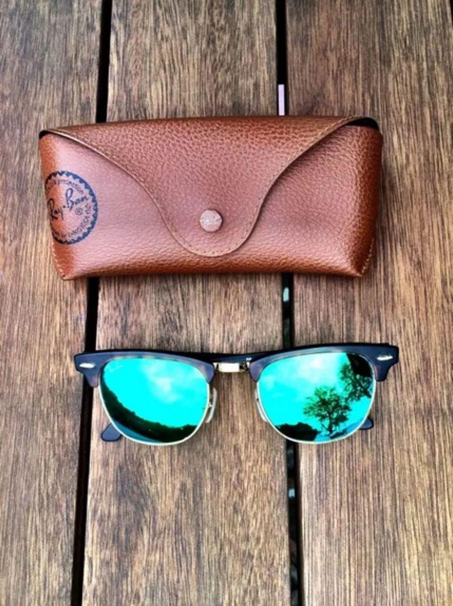 clubmaster verde - óculos rayban