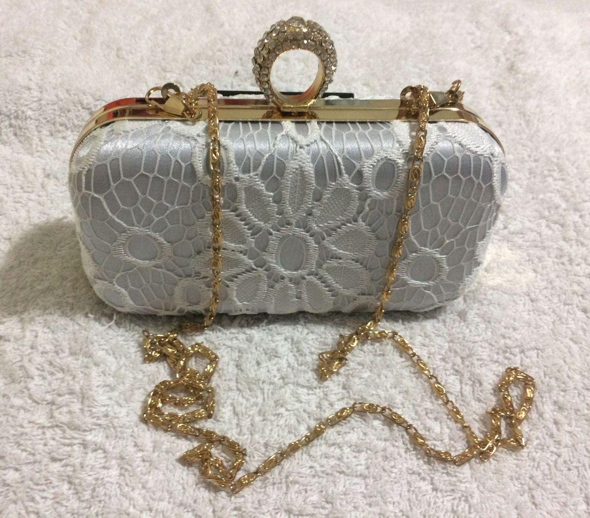 clutch bolsa de festa para em renda na cor branca - clutches sem marca 6fb2a57ef86