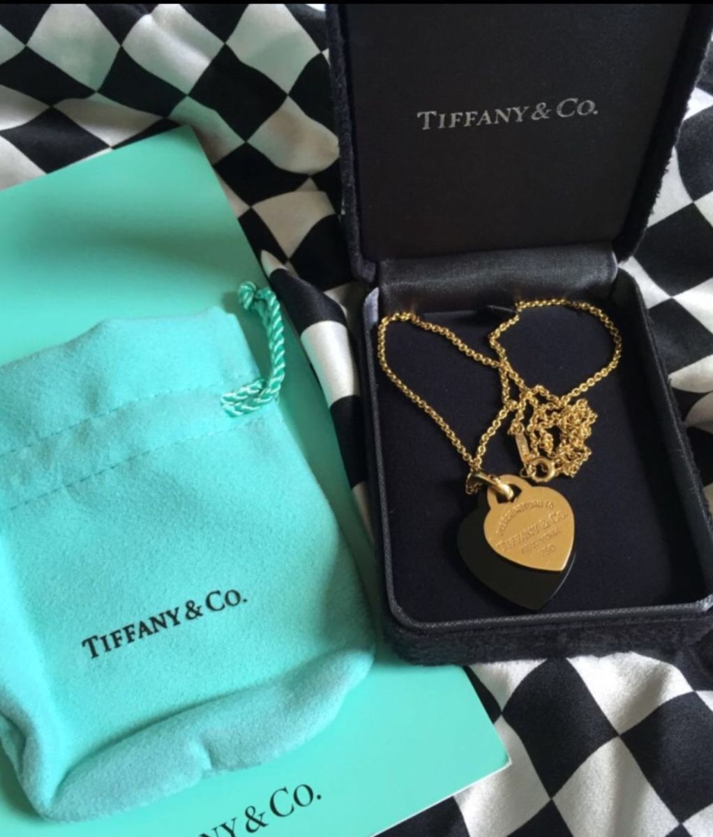 colar com pingente duplo tiffany - jóias tiffany-e-co