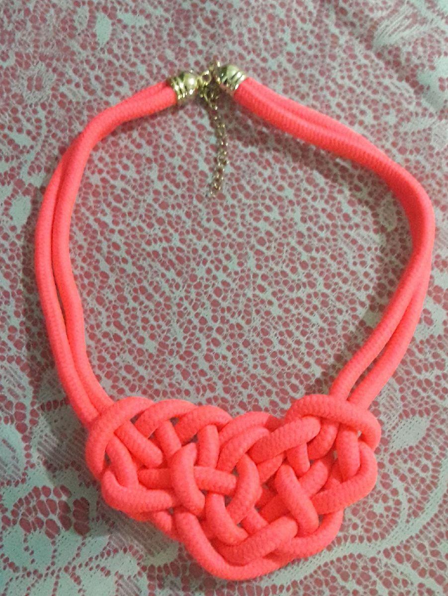 colar de corda - bijoux sem marca
