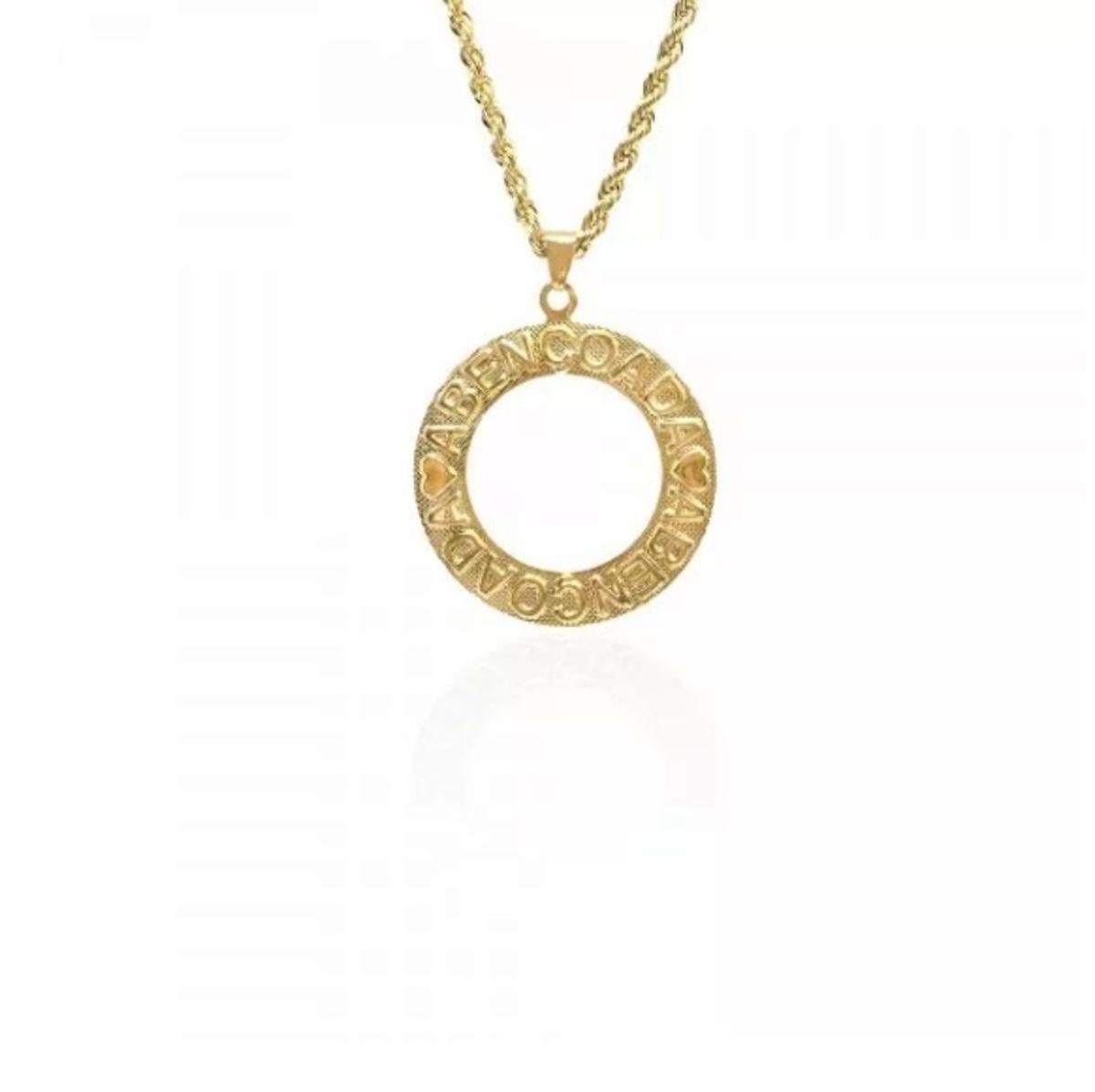24c3d6b9e91 colar mandala abençoada folheado ouro 18k semi joia - bijoux sem marca