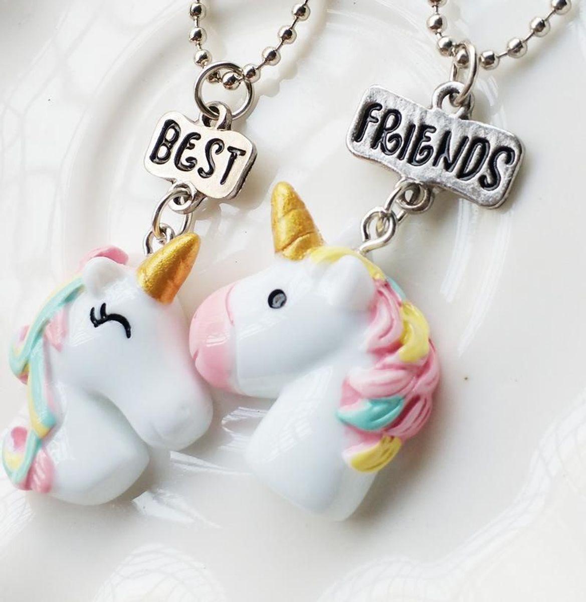 colar unicornios - bijoux unicornio