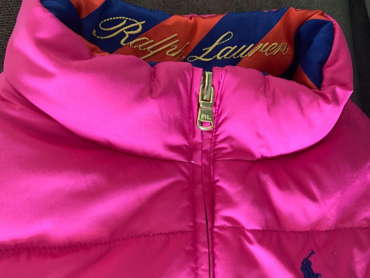 colete frio reversível rosa e laranja polo ralph lauren - menina polo-ralph-lauren