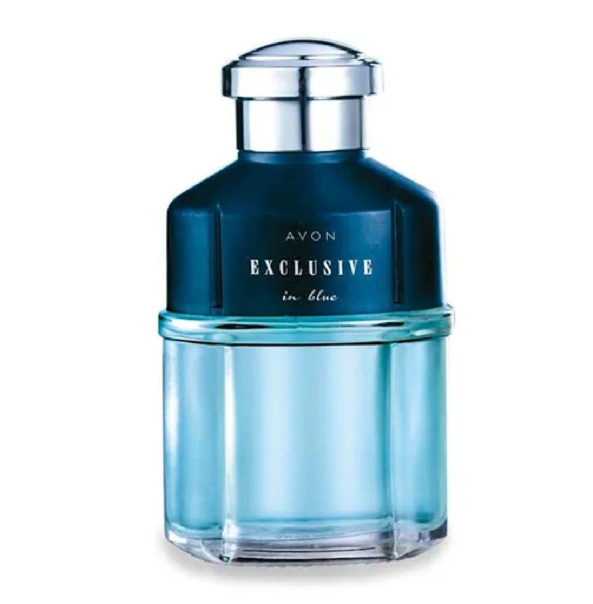 colônia desodorante masculina exclusive in blue - perfumes avon