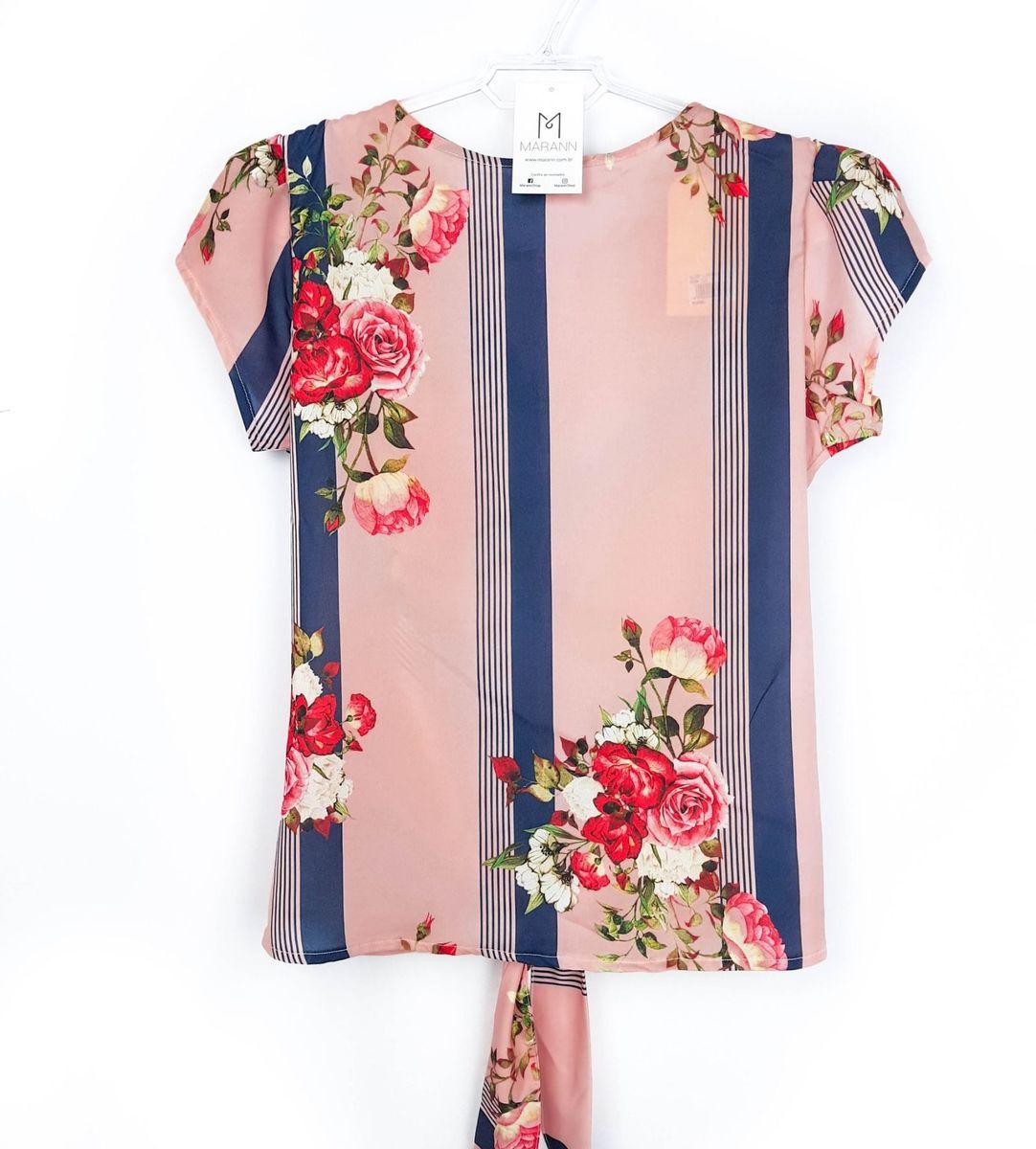 com etiqueta! blusa floral com amarração - blusas xá doce