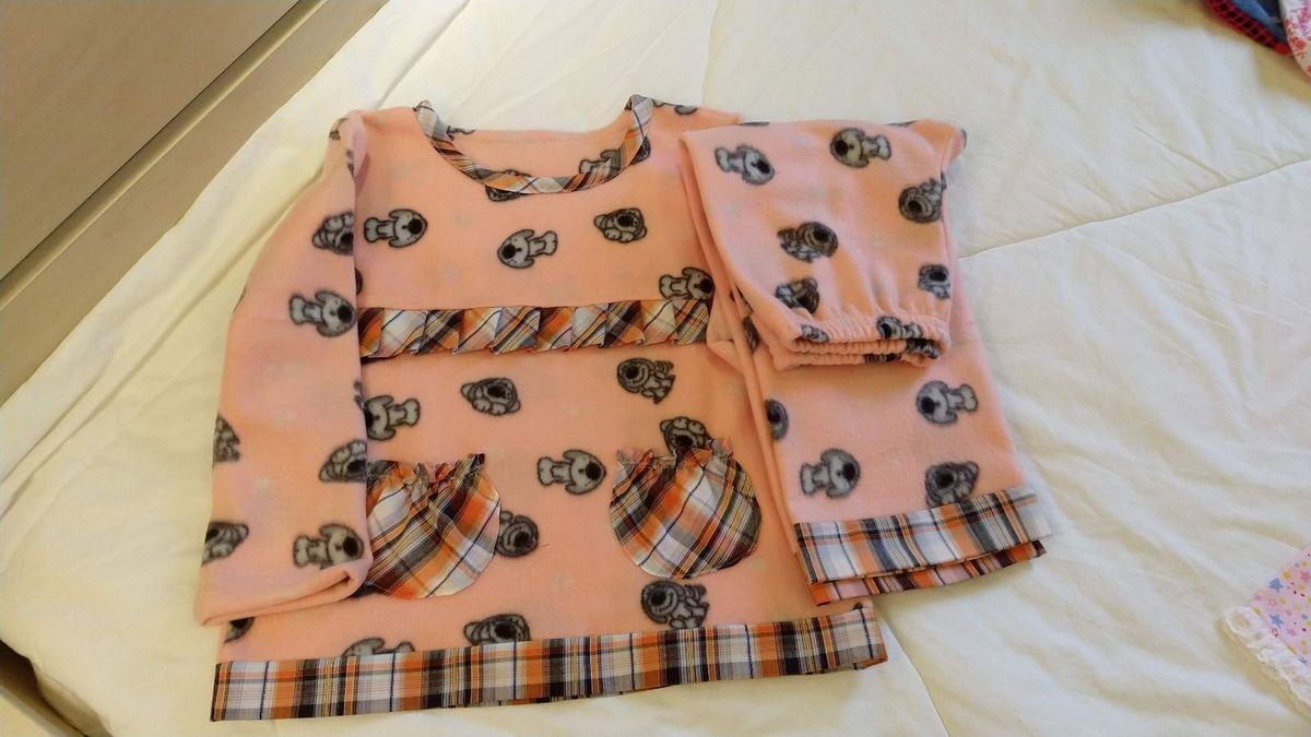 conjuntinho pijama em soft menina - menina sem marca