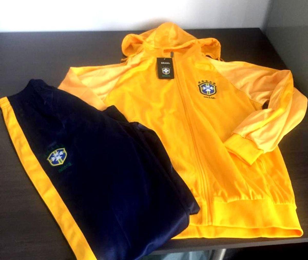 a4f91fb88f0a2 conjunto agasalho seleção brasileira futebol calça e blusa brasil - casacos  nike