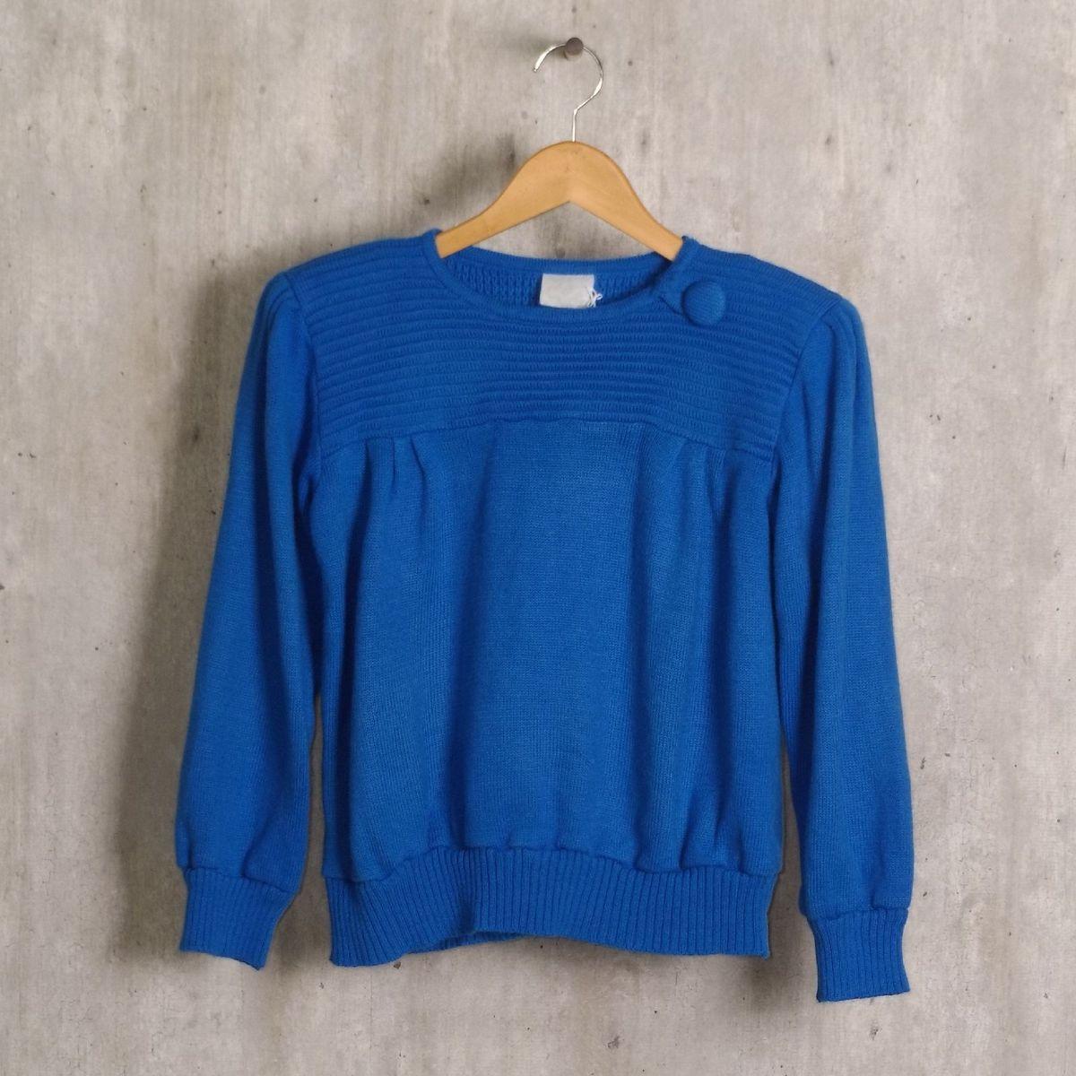 conjunto azul em tricô - saias sem marca