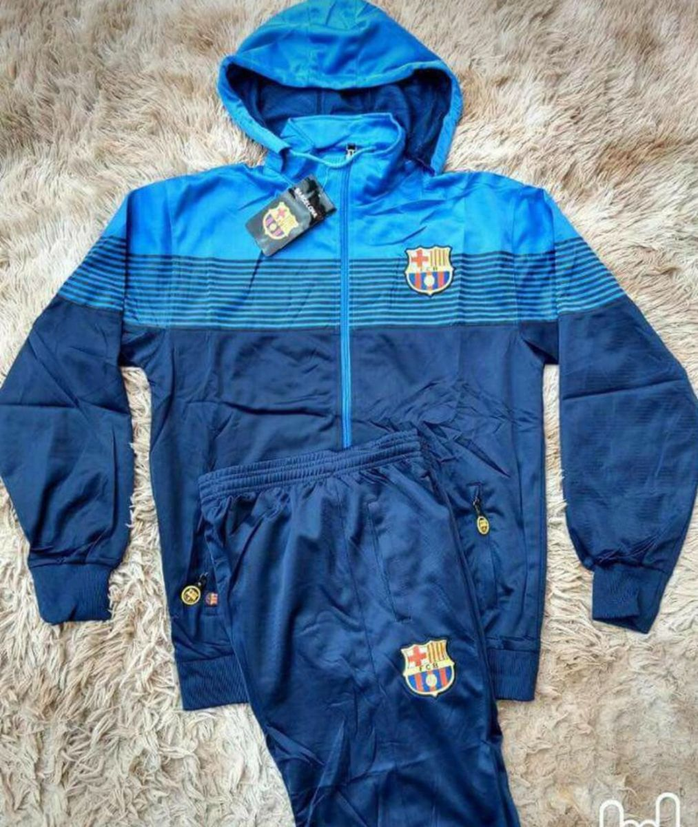 d395ff4a50051 conjunto barcelona calca + blusa azul - casacos sem marca