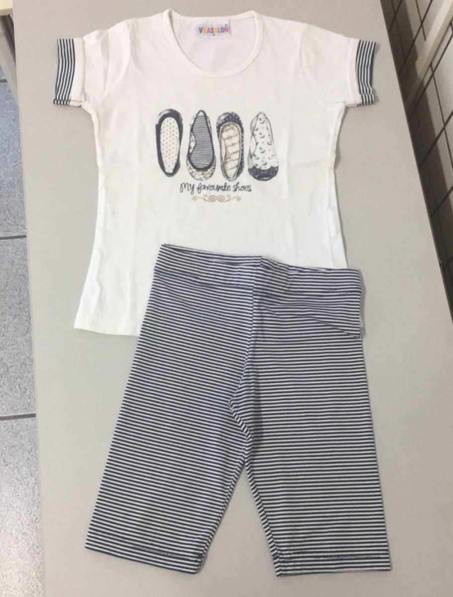 92d8c1ca6ce conjunto bermudinha e camiseta 4 - infantil - menina vrasalon