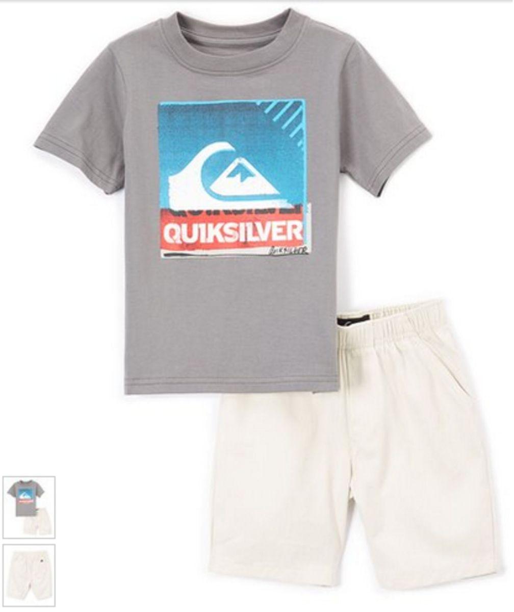 Conjunto Camiseta e Bermuda Quiksilver - Menino   Roupa Infantil ... ed35e807c6