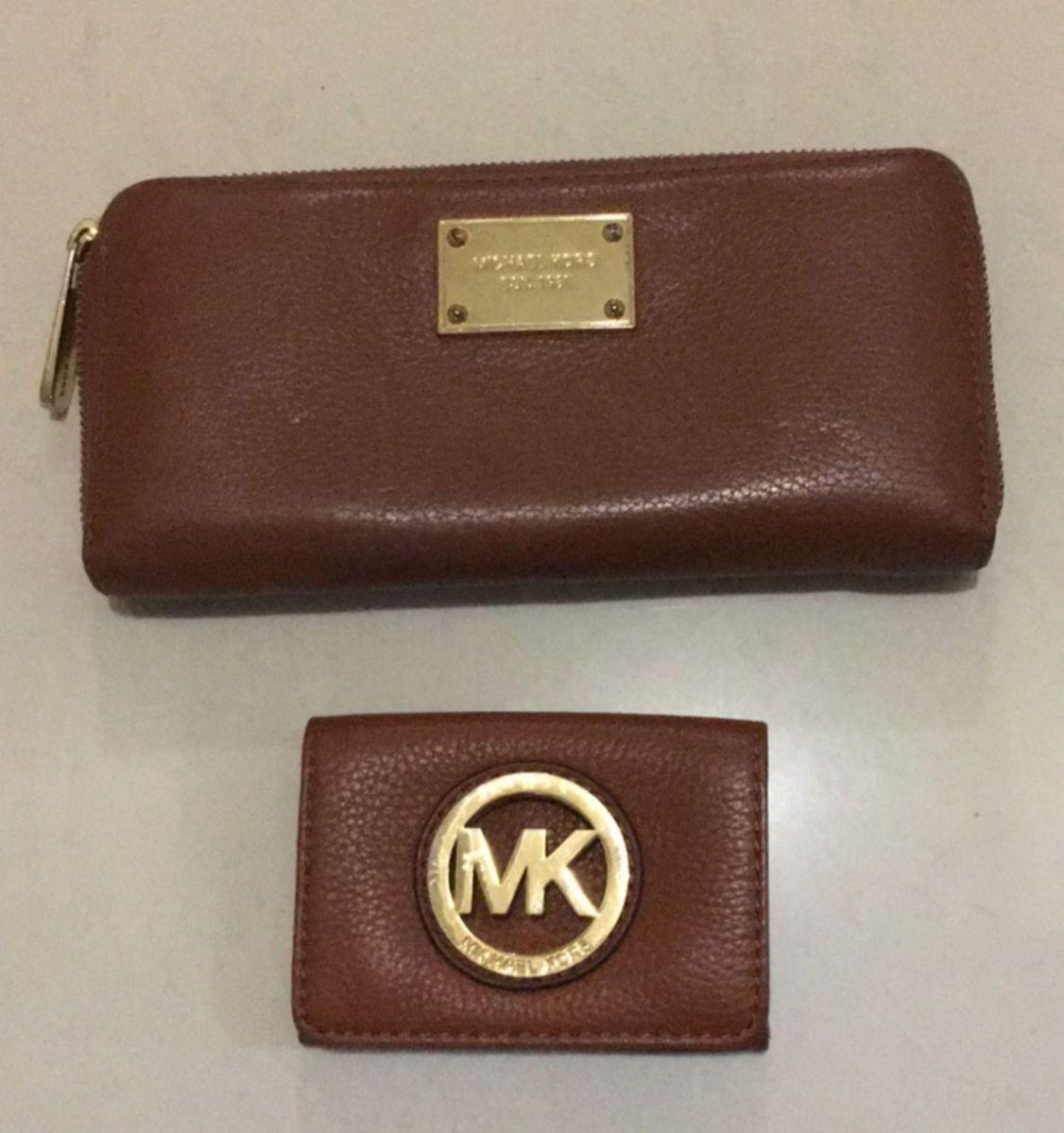 conjunto carteira e porta moeda ou cartao michael kors original - carteiras michael  kors 1e4d6d5971