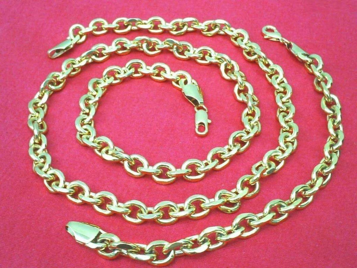 f33955104c9 Conjunto Cartier 10mm Corrente + Pulseira Novo Banhada Ouro Original ...