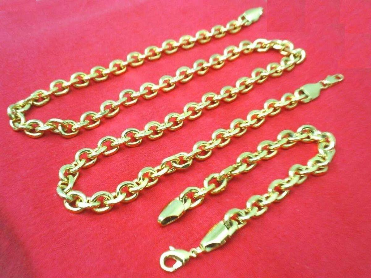 5864825fa84 conjunto cartier 10mm corrente + pulseira novo banhada ouro original - outros  cartier