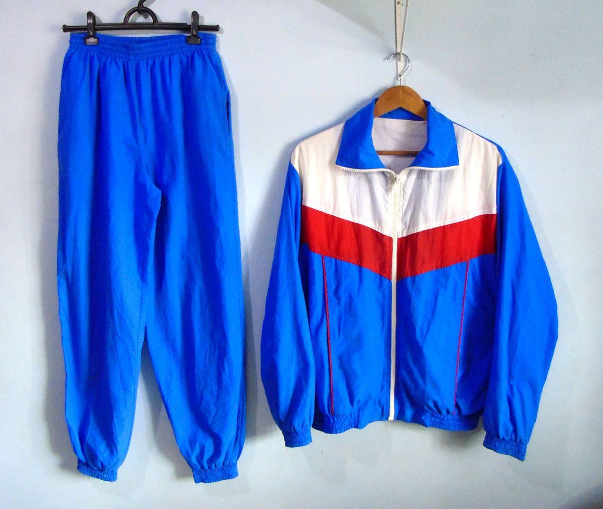 conjunto corta vento sport vintage - casaquinhos sem marca