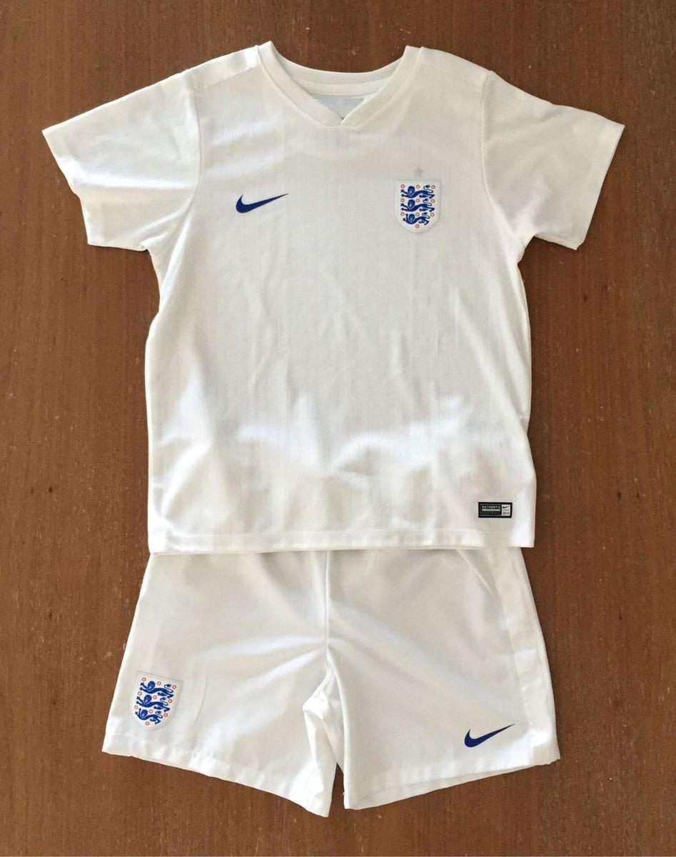 conjunto de camisa e short de futebol nike seleção da inglaterra xl  (cód.0593 8413bf1524d18
