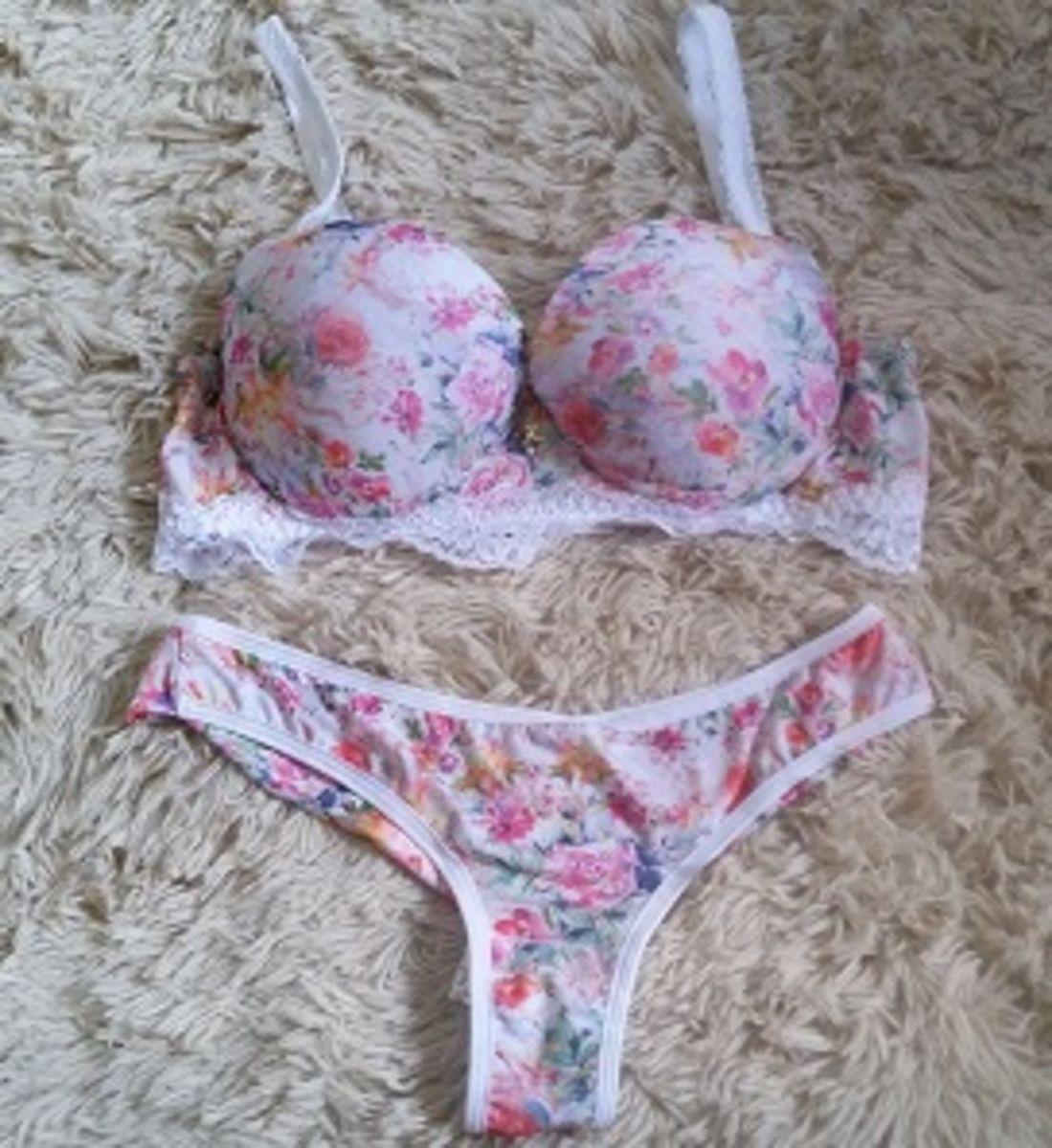 2706b7161 conjunto de lingerie branco floral - lingerie empório vs